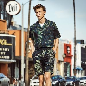 Pierre Cardin swim trunks olive palm commection
